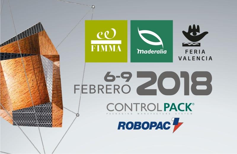 Feria FIMMA-MADERALIA 2018 y CEVISAMA en Valencia: Visítenos en los stands A8 y C101
