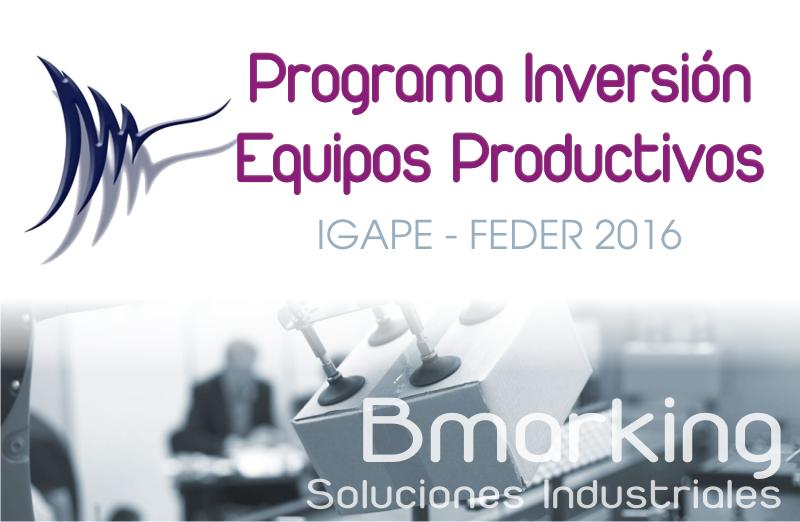 Inversión en equipos productivos 2016