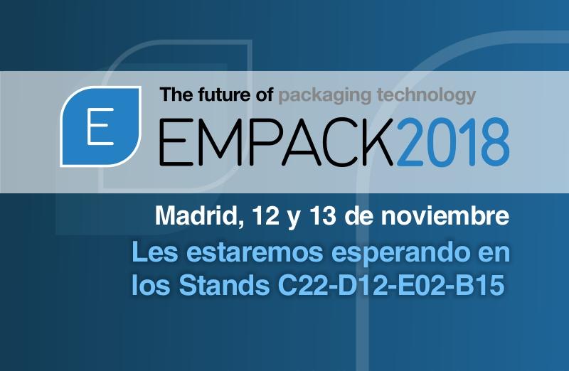 Empack 2018 Madrid: Visítanos en los stands C22-D12-E02-B15