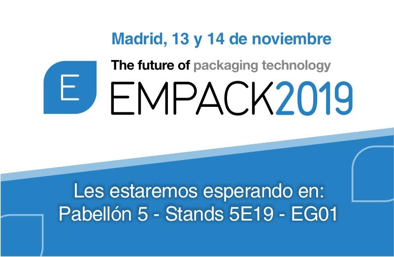 Empack 2019 Madrid: Visítanos en los Stands 5E19 y EG01